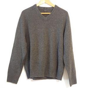 J. Crew. Men's v-neck slim wooly sweater.